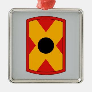 479th Field Artillery Brigade Square Metal Christmas Ornament