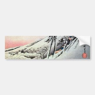 47. 亀山宿, 広重 Kameyama-juku, Hiroshige, Ukiyo-e Bumper Sticker