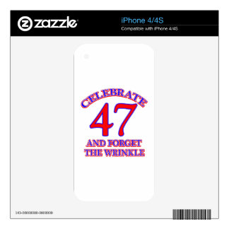 47 Birthday Deasign iPhone 4S Decal