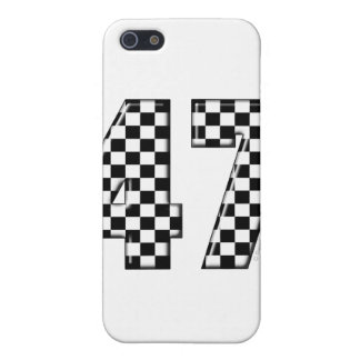 47 checkered number cover for iPhone SE/5/5s