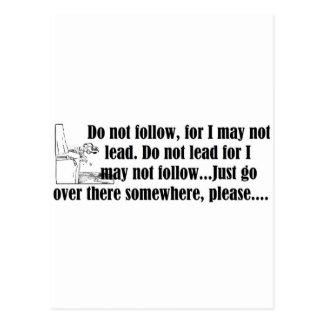 47-Do Not Follow.jpg Postcard