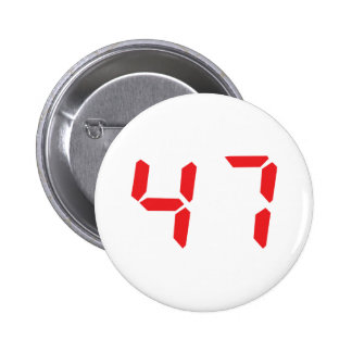 47 fourty-seven red alarm clock digital number pins