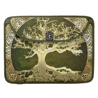 [47] Golden Celtic Tree of Life MacBook Pro Sleeve