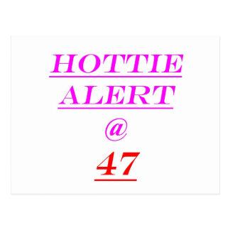 47 Hottie Alert Postcard