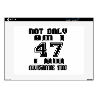 47 I AM AWESOME TOO LAPTOP DECALS