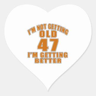 47 I Am Getting Better Heart Sticker