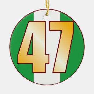 47 NIGERIA Gold Ceramic Ornament