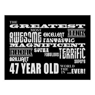 47.o Años más grandes de la fiesta de cumpleaños l Póster