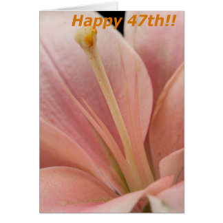 47.o cumpleaños feliz tarjeta de felicitación