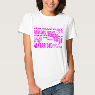 47.os cumpleaños cuarenta y siete más grande camisas