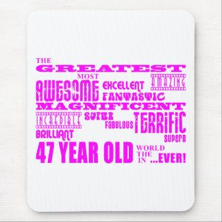 47.os cumpleaños cuarenta y siete más grande rosad alfombrilla de ratones