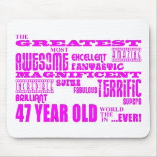 47.os cumpleaños cuarenta y siete más grande rosad mousepads