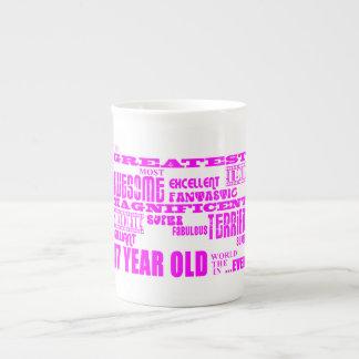 47.os cumpleaños cuarenta y siete más grande rosad taza de porcelana
