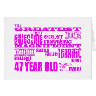 47.os cumpleaños cuarenta y siete más grande tarjeta de felicitación