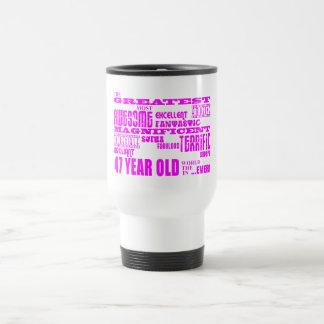 47.os cumpleaños cuarenta y siete más grande taza de viaje