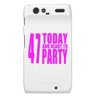 47.os cumpleaños de los chicas: 47 hoy y aliste motorola droid RAZR carcasa