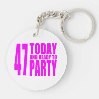 47.os cumpleaños de los chicas: 47 hoy y aliste llavero redondo acrílico a doble cara