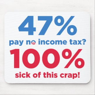 47% Pay No Taxes? Mouse Pad
