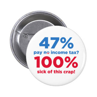 47% Pay No Taxes? Pinback Button