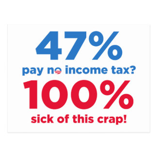 47% Pay No Taxes? Postcard