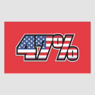 47 Percent Rectangular Sticker