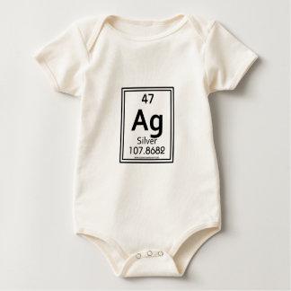 47 Silver Baby Bodysuit