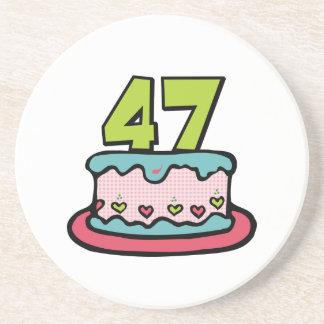 47 Year Old Birthday Cake Coaster