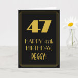 "[ Thumbnail: 47th Birthday – Art Deco Inspired Look ""47"" & Name Card ]"