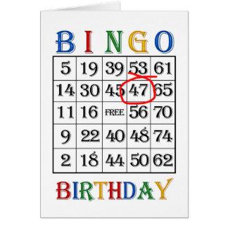 47th Birthday Bingo card