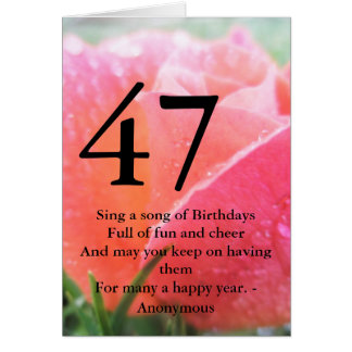 47th Birthday Card