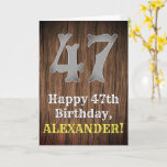 [ Thumbnail: 47th Birthday: Country Western Inspired Look, Name Card ]