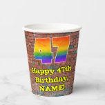 [ Thumbnail: 47th Birthday: Fun Graffiti-Inspired Rainbow 47 ]