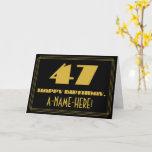 "[ Thumbnail: 47th Birthday: Name + Art Deco Inspired Look ""47"" Card ]"