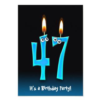 47th Birthday Party Invite