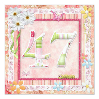 47th birthday party scrapbooking style invitation