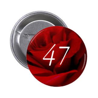 47th Birthday Pinback Button