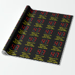 """[ Thumbnail: 47th Birthday: Red Digital Clock Style """"47"""" + Name Wrapping Paper ]"""
