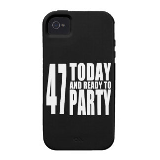 47th Birthdays Parties : 47 Today & Ready to Party iPhone 4/4S Covers