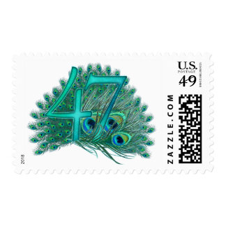 47th decorative artistic number stamps postage