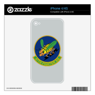 47th Fighter Squadron iPhone 4S Skin