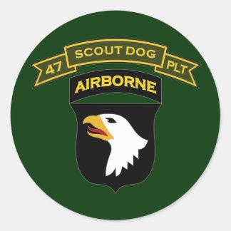 47th IPSD - 101st Airborne Classic Round Sticker