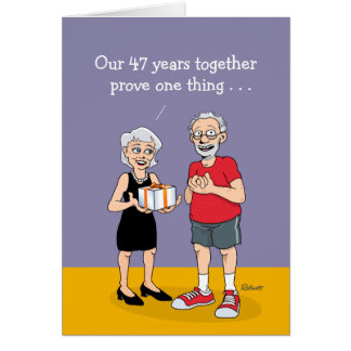 47th Wedding Anniversary Card: Love is Blind Card
