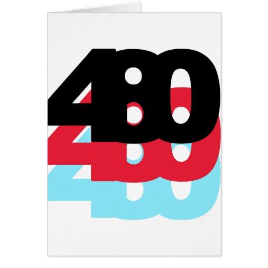 480 Area Code Card