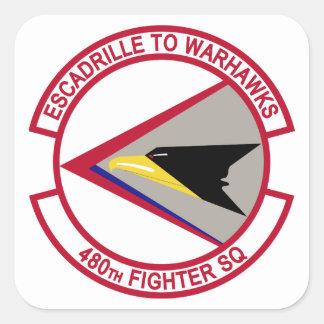 480th Fighter Squadron - Escadrille To Warhawks Square Sticker