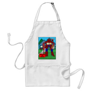 481 Beware of Dog Robot cartoon Adult Apron