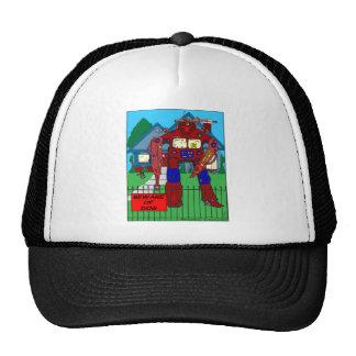 481 Beware of Dog Robot cartoon Trucker Hat