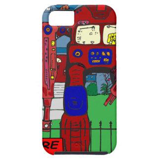 481 guárdese de dibujo animado del robot del perro iPhone 5 Case-Mate coberturas