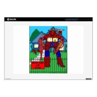 481 guárdese de dibujo animado del robot del perro portátil calcomanías