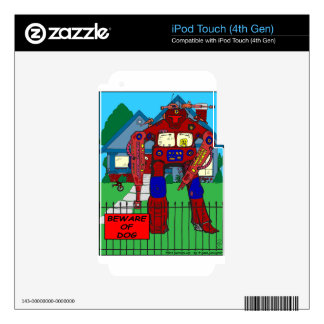481 guárdese de dibujo animado del robot del perro iPod touch 4G skins