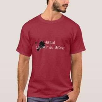 48201Le Coeur du Detroit with gear logo T-Shirt